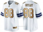 Camiseta Dallas Cowboys Bryant Blanco Nike Gold Game NFL Hombre
