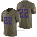 Camiseta NFL Limited Hombre Minnesota Vikings 22 Harrison Smith 2017 Salute To Service Verde