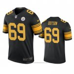 Camiseta NFL Legend Pittsburgh Steelers Kevin Dotson Negro Color Rush
