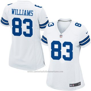 Camiseta Dallas Cowboys Williams Blanco Nike Game NFL Mujer