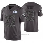 Camiseta NFL Limited Hombre Los Angeles Rams Marcus Peters Gris Super Bowl LIII