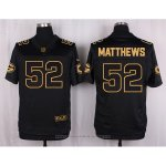 Camiseta Green Bay Packers Matthews Negro Nike Elite Pro Line Gold NFL Hombre