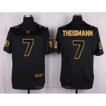 Camiseta Washington Redskins Theismann Negro Nike Elite Pro Line Gold NFL Hombre