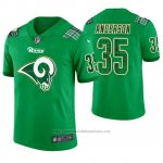Camiseta NFL Limited Hombre Los Angeles Rams C.j. Anderson St. Patrick's Day Verde