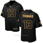 Camiseta New Orleans Saints Thomas 2016 Negro Nike Elite Pro Line Gold NFL Hombre