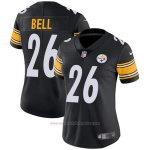 Camiseta NFL Limited Mujer Pittsburgh Steelers 26 Bell Negro