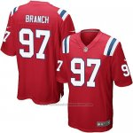 Camiseta New England Patriots Branch Rojo Nike Game NFL Hombre