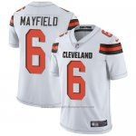 Camiseta NFL Game Hombre Cleveland Browns 6 Baker Mayfield Blanco Vapor Untouchable
