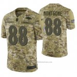 Camiseta NFL Limited Hombre Baltimore Ravens Ty Montgomery Camuflaje 2018 Salute To Service