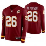 Camiseta NFL Hombre Washington Redskins Adrian Peterson Burgundy Therma Manga Larga