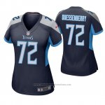 Camiseta NFL Game Mujer Tennessee Titans David Quessenberry Azul