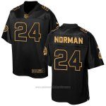 Camiseta Washington Redskins Norman Negro 2016 Nike Elite Pro Line Gold NFL Hombre