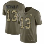 Camiseta NFL Limited Hombre New York Giants 13 Odell Beckham Jr Stitched 2017 Salute To Service