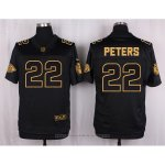Camiseta Kansas City Chiefs Peters Negro Nike Elite Pro Line Gold NFL Hombre