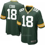 Camiseta Green Bay Packers Cobb Verde Militar Nike Game NFL Nino