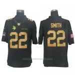 Camiseta NFL Gold Limited Hombre Minnesota Vikings 22 Smith Negro