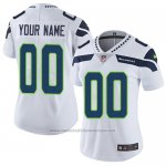 Camisetas NFL Women's Hombre Seattle Seahawks Personalizada Blanco