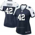 Camiseta Dallas Cowboys Church Negro Blanco Nike Game NFL Mujer