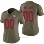 Camiseta NFL Limited Mujer New York Giants Personalizada 2017 Salute To Service Verde