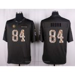 Camiseta Pittsburgh Steelers Brown Apagado Gris Nike Anthracite Salute To Service NFL Hombre