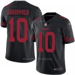 Camiseta NFL Limited Hombre San Francisco 49ers 10 Jimmy Garoppolo Negro Stitched Rush