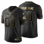 Camiseta NFL Limited Seattle Seahawks Personalizada Golden Edition Negro
