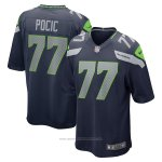Camiseta NFL Game Seattle Seahawks Ethan Pocic Azul