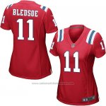 Camiseta New England Patriots Bledsoe Rojo Nike Game NFL Mujer