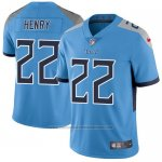 Camiseta NFL Limited Hombre Tennessee Titans 22 Derrick Henry Azul Stitched Vapor Untouchable