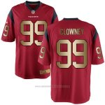 Camiseta Houston Texans Clowney Rojo Nike Gold Game NFL Hombre