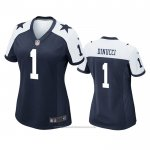 Camiseta NFL Game Mujer Dallas Cowboys Ben Dinucci Alterno Azul