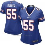 Camiseta Buffalo Bills Hughes Azul Nike Game NFL Mujer