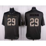 Camiseta Los Angles Rams Dickerson Apagado Gris Nike Anthracite Salute To Service NFL Hombre