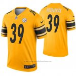 Camiseta NFL Legend Pittsburgh Steelers 39 Minkah Fitzpatrick Inverted Oro