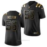 Camiseta NFL Limited New England Patriots Quenton Nelson Golden Edition Negro