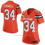 Camiseta Cleveland Browns Crowell Naranja Nike Game NFL Mujer