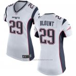 Camiseta New England Patriots Blount Blanco Nike Game NFL Mujer