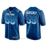 Camiseta NFL Hombre Carolina Panthers 59 Luke Kuechly Azul NFC 2018 Pro Bowl