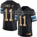 Camiseta Detroit Lions Jones Jr Nike Gold Legend NFL Negro Hombre
