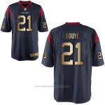 Camiseta Houston Texans Bouye Profundo Azul Nike Gold Game NFL Hombre