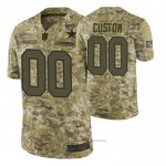 Camiseta NFL Limited Dallas Cowboys Personalizada Salute To Service Verde