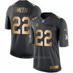 Camiseta Minnesota Vikings Smith Negro 2016 Nike Gold Anthracite Salute To Service NFL Hombre