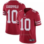 Camiseta NFL Limited Hombre San Francisco 49ers 10 Jimmy Garoppolo Rojo Stitched Vapor Untouchable