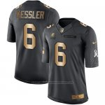 Camiseta Cleveland Browns Kessler Negro 2016 Nike Gold Anthracite Salute To Service NFL Hombre
