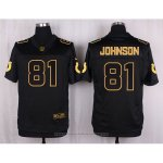 Camiseta Indianapolis Colts Johnson Negro Nike Elite Pro Line Gold NFL Hombre