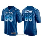 Camiseta NFL Hombre Seattle Seahawks 88 Jimmy Graham Azul NFC 2018 Pro Bowl
