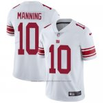 Camiseta NFL Limited Hombre New York Giants 10 Eli Manning Blanco Stitched Vapor Untouchable