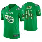 Camiseta NFL Limited Hombre Tennessee Titans Corey Davis St. Patrick's Day Verde