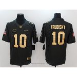 Camiseta NFL Limited Gold Hombre Chicago Bears 10 Trubisky Anthracite Negro