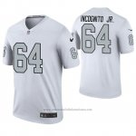 Camiseta NFL Legend Oakland Raiders Richie Incognito Jr. Blanco Color Rush